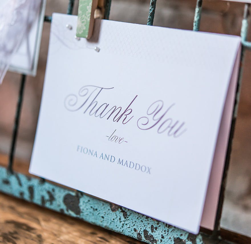 Contemporary Vintage Thank You Card | Confetti.co.uk