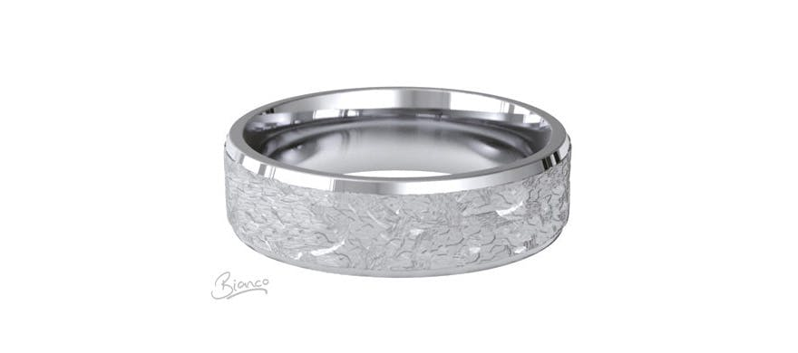 Palladium Wedding Rings For Men - Style 69 Palladium Wedding Band by Luv Olivia Jewellery | Confetti.co.uk
