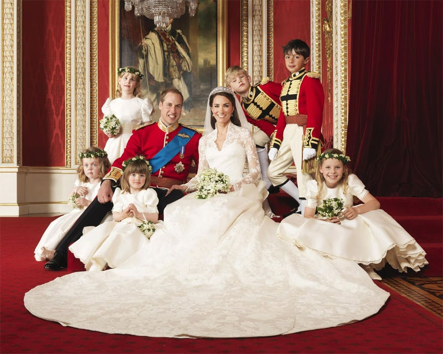 Prince William and Kate Middleton Official Wedding Photo in Buckingham Palace - Kate Middleton's Wedding Dress | Confetti.co.uk