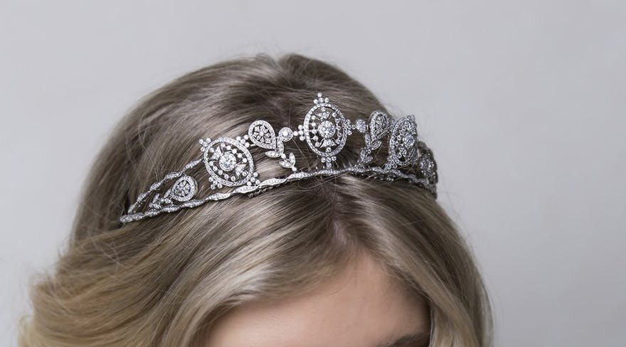 Victoria Tiara by Stephanie Browne Australia - Victorian Era Inspired Quartz Tiara | Confetti.co.uk