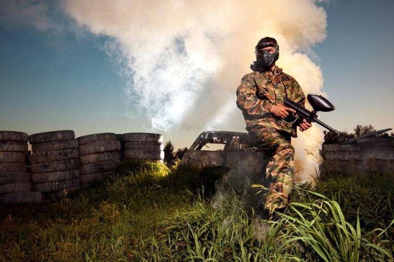Paint balling stag activities courtesy of StagWeb - Win Your Dream Wedding 2018