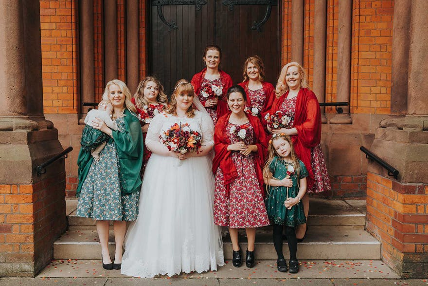 Harry Potter Inspired Bridesmaids Dresses - Alex and Matt's Harry Potter Wedding by Maddie Farris Photography | Confetti.co.uk