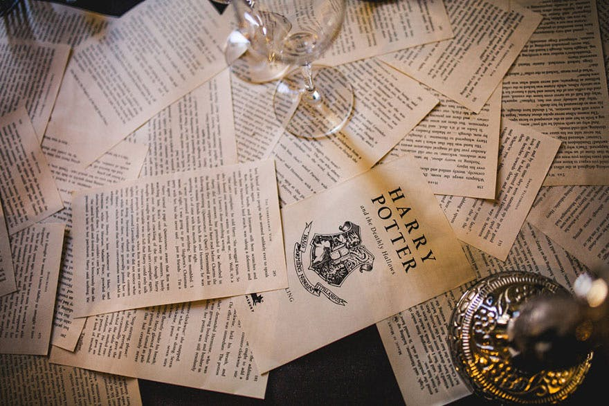 Harry Potter Wedding Table Decor Ideas - Kelly Clarke Photography | Confetti.co.uk