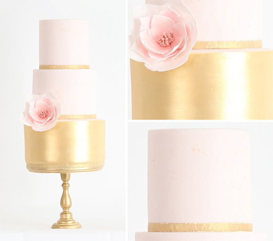 Metallic Wedding Cakes: 13 Stunning Examples - Confetti.co.uk