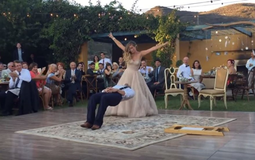 magic themed first dance wedding video