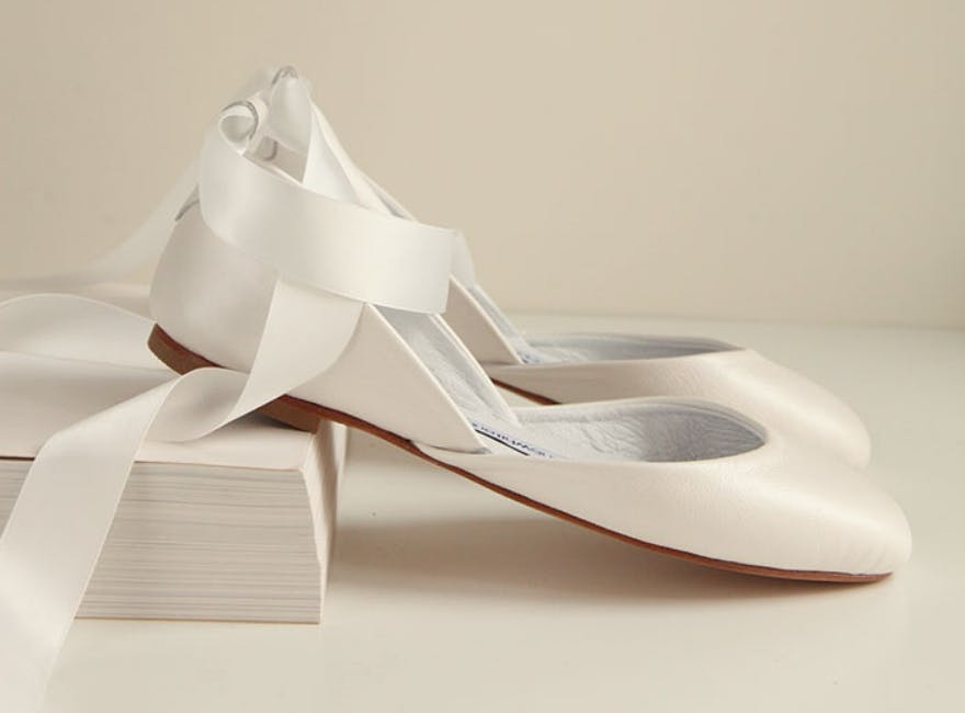 df4ffcafb ... shoes with long satin ribbons. Elegant, simplistic and timeless. The  soft shine adds to this luxurious design whilst the anti-slip sole ensures  ...