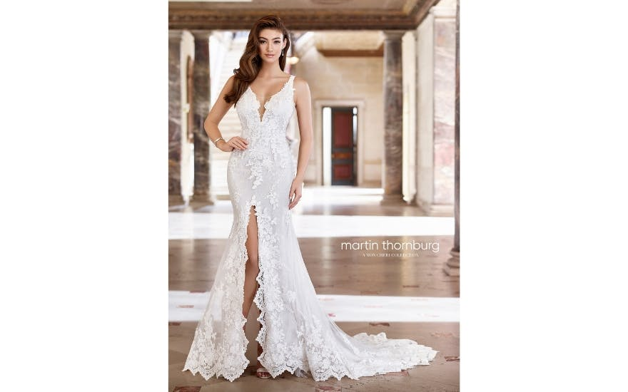 Front split wedding dress