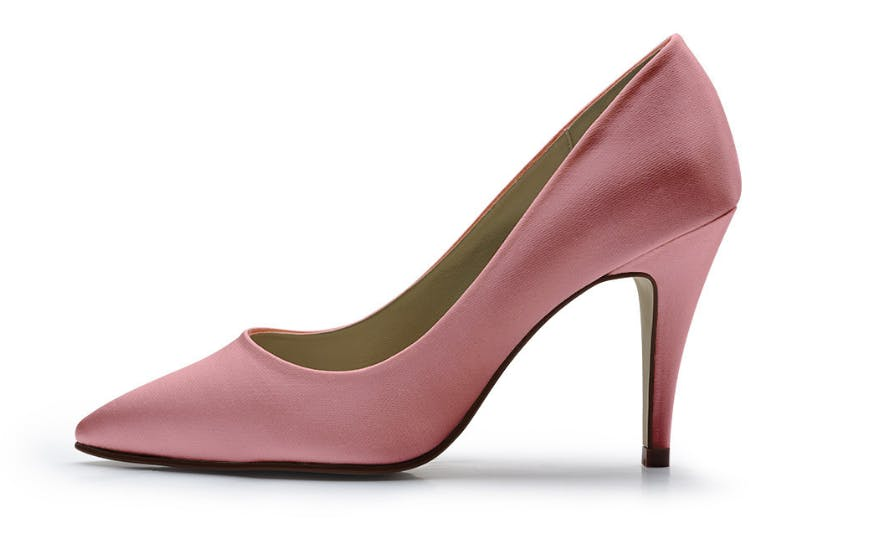 blush pink court shoes