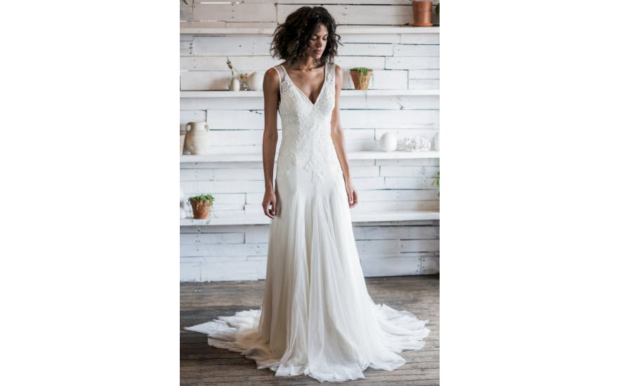 simple white wedding dress