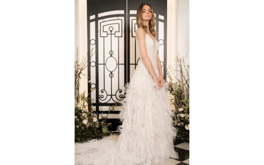 long-feathered-wedding-dress-jenny-packham