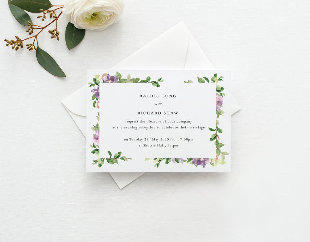 Wedding Reception Invitations What To Write And When To Send Them