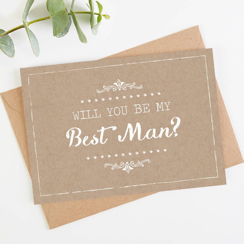 Rustic will you be my best man card idea