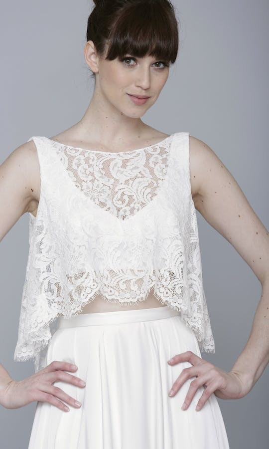 Theia Couture Spring 2016 Poppy Lace Crop Bridal Top: 890269 #1