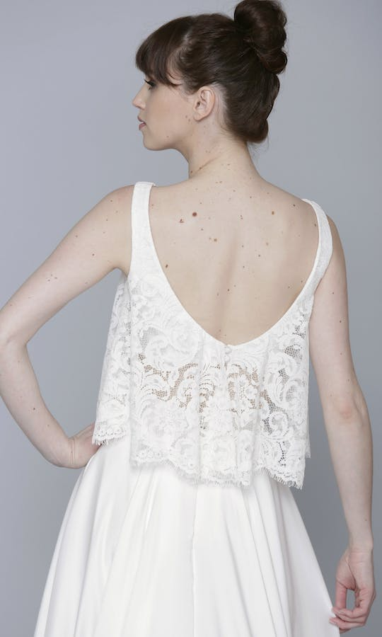 Theia Couture Spring 2016 Poppy Lace Crop Bridal Top: 890269 #2