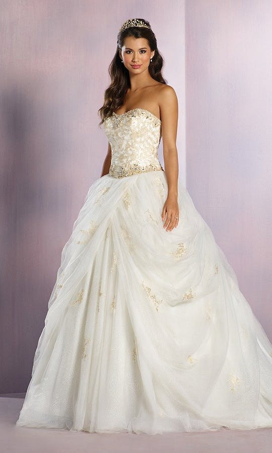 Belle Princess Bridal Gown Gold Wedding Dress Alfred Angelo Disney Fairy Tale Weddings Bridal Collection Spring 2016 Confetti Co Uk