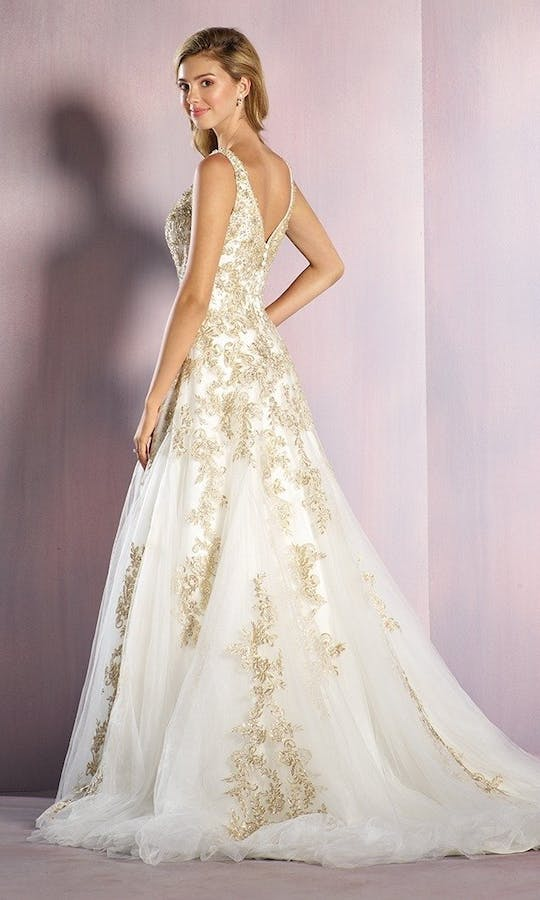 Alfred Angelo Disney Fairy Tale Weddings Bridal Collection Spring 2016 Rapunzel Wedding Dress Gold