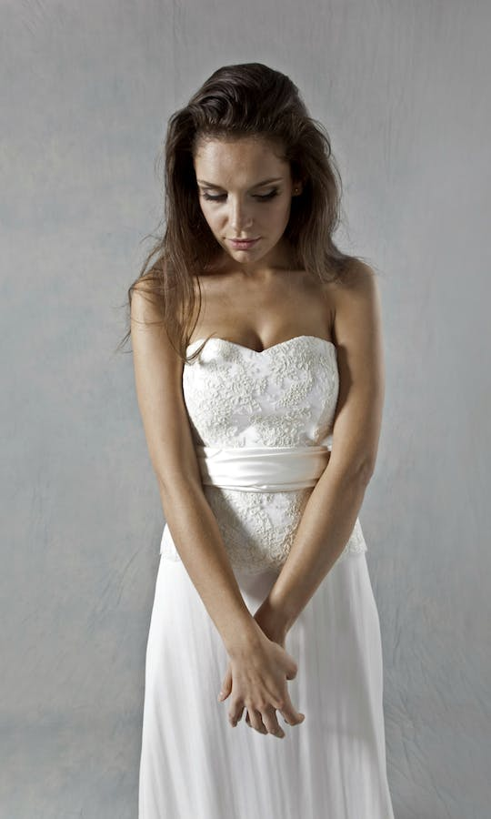 Lucy Martin Bridal The Collection Lace Bodice Wedding Dress #1
