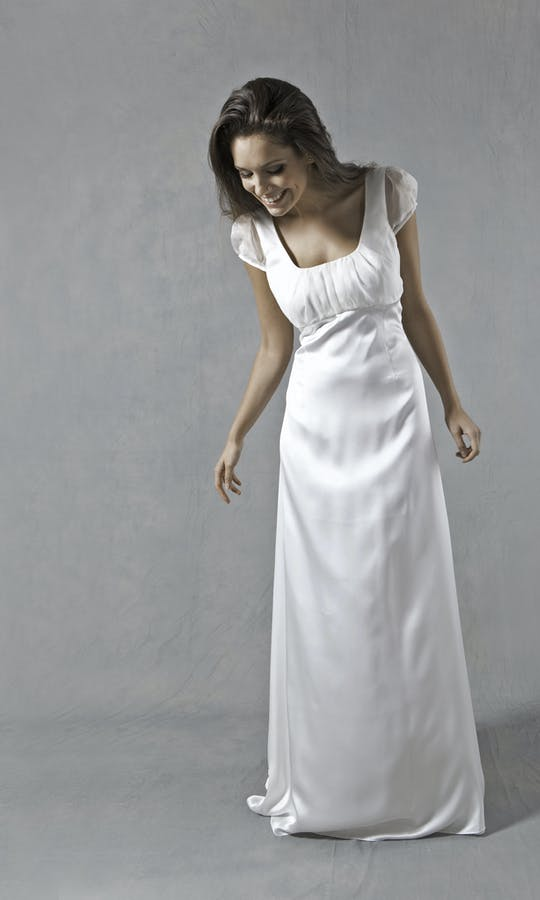 Lucy Martin Bridal The Collection Cap Sleeve Wedding Dress #2