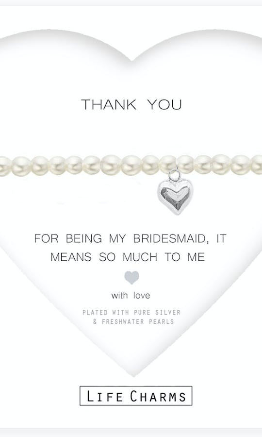 Life Charms The Wedding Collection Thank You Bridesmaid Bracelet #2