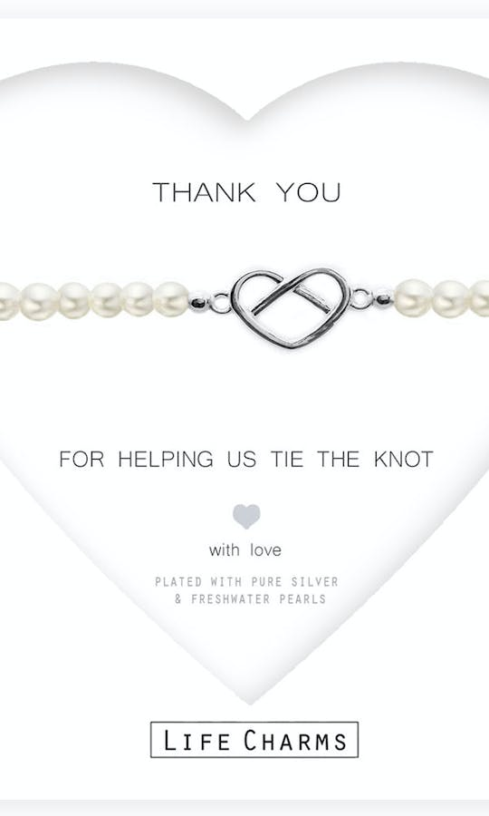 Life Charms The Wedding Collection Thank You For Helping Us Bracelet #1