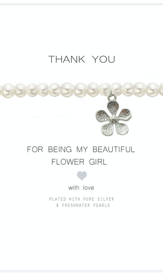 Life Charms The Wedding Collection Thank You for being my Flower Girl Bracelet #2