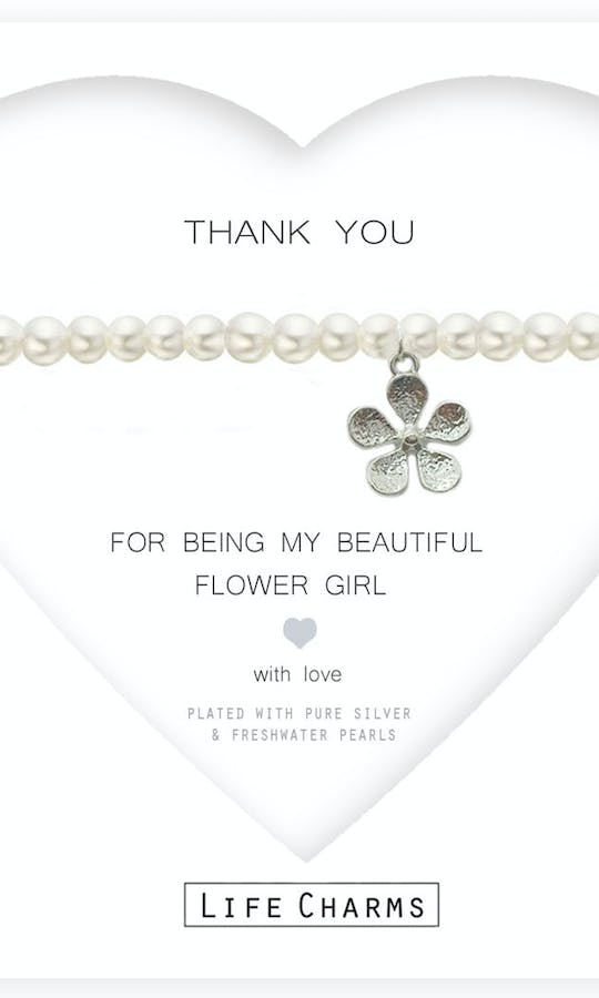 Life Charms The Wedding Collection Thank You for being my Flower Girl Bracelet #1