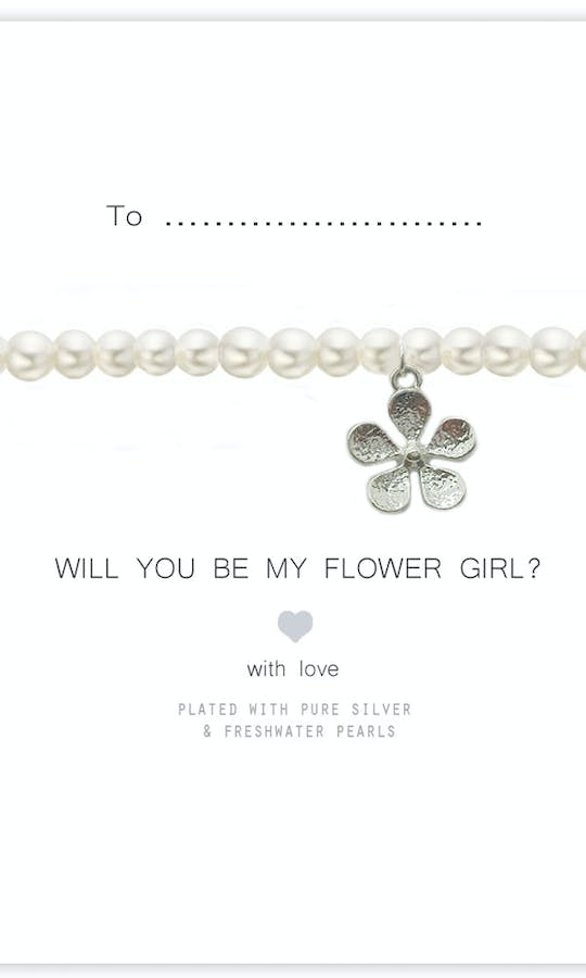 Life Charms The Wedding Collection Will You Be My Flower Girl Pearl Bracelet #2