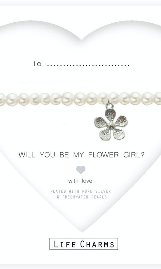 Life Charms The Wedding Collection Will You Be My Flower Girl Pearl Bracelet #1