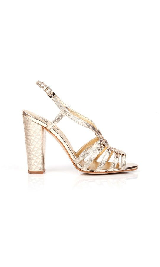 Beyond Skin Bridal Collection Geogold Candice Sandals #1
