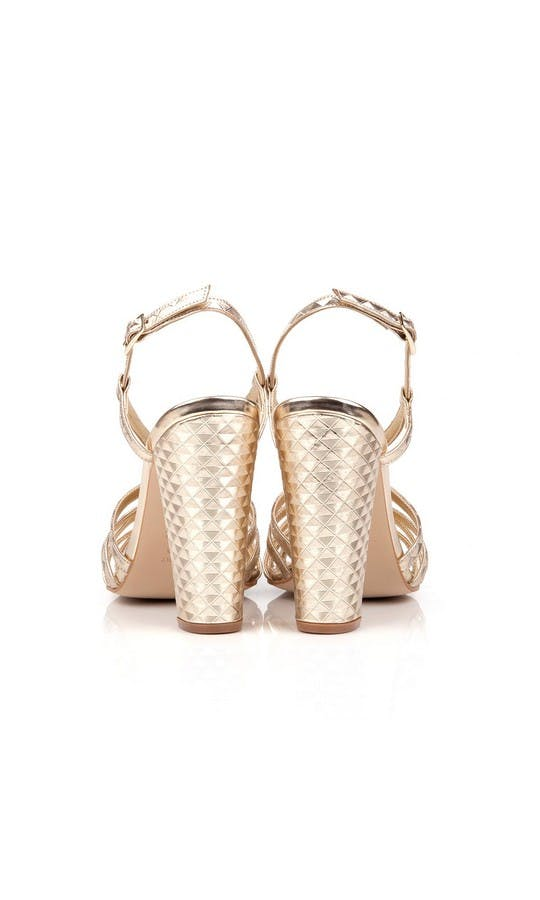 Beyond Skin Bridal Collection Geogold Candice Sandals #3