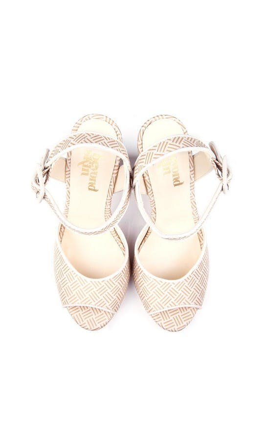Beyond Skin Bridal Collection Cream Charlotte Sandals #2