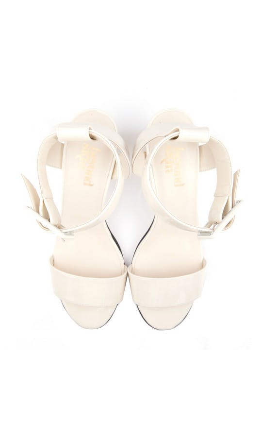 Beyond Skin Bridal Collection Colette Cream Sandals #2