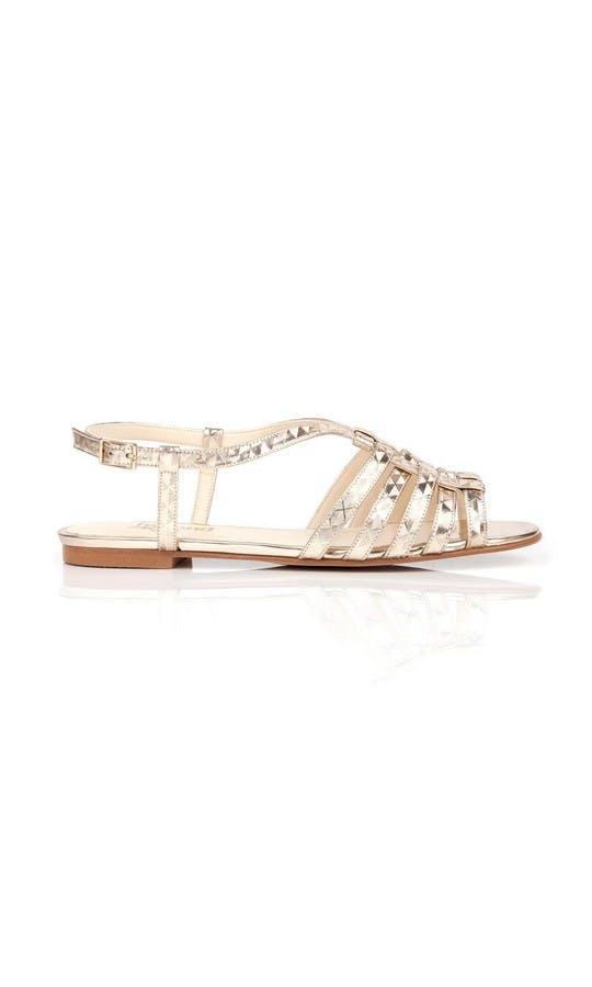 Beyond Skin Bridal Collection Cornelia Geogold Sandals #1