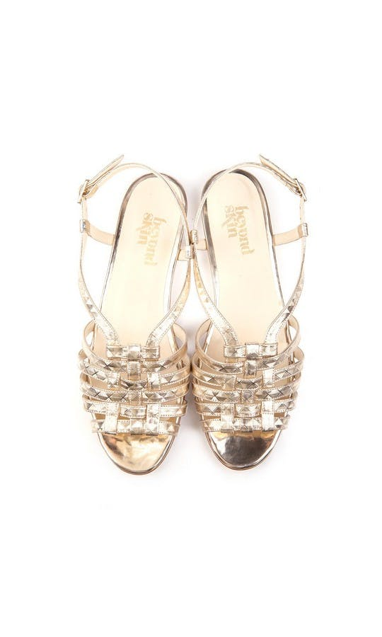 Beyond Skin Bridal Collection Cornelia Geogold Sandals #2