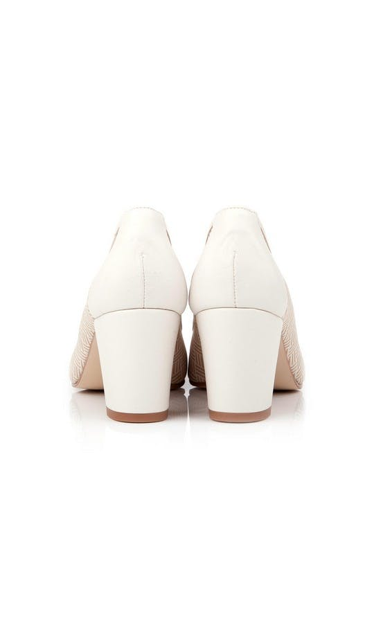 Beyond Skin Bridal Collection Doris Cream Heels #3