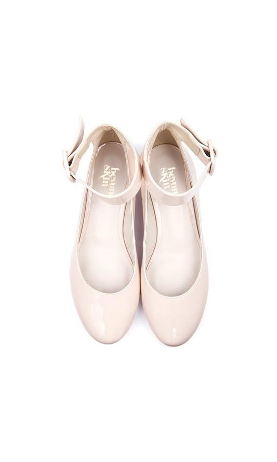 Beyond Skin Bridal Collection Cream Bob Wedges #2