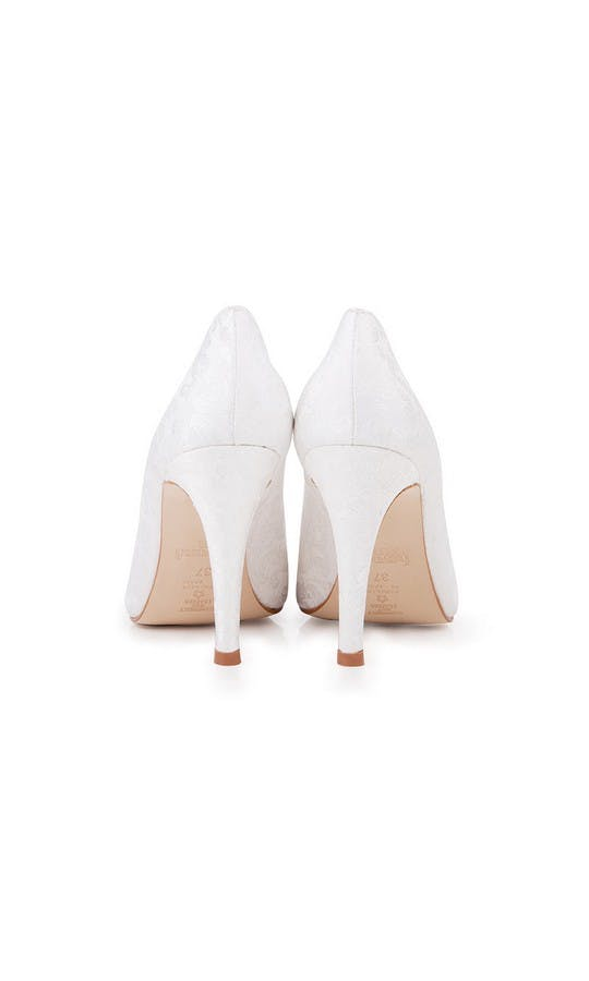 Beyond Skin Bridal Collection Lexie B White Damask Stilettos #3