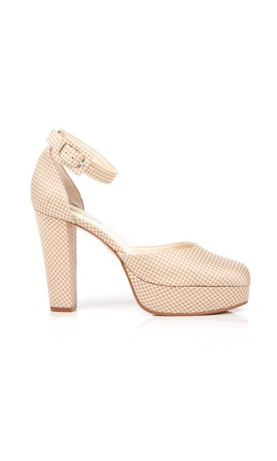 Beyond Skin Bridal Collection Valerie Cream Polka Platforms #1