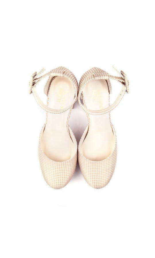 Beyond Skin Bridal Collection Valerie Cream Polka Platforms #2