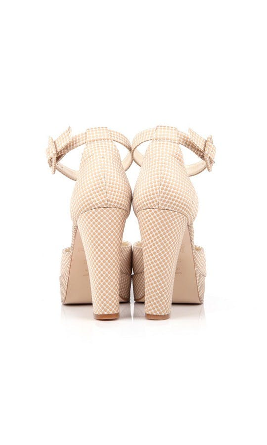 Beyond Skin Bridal Collection Valerie Cream Polka Platforms #3