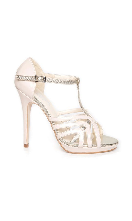 Beyond Skin Bridal Collection Zoe Cream High Sandals #1