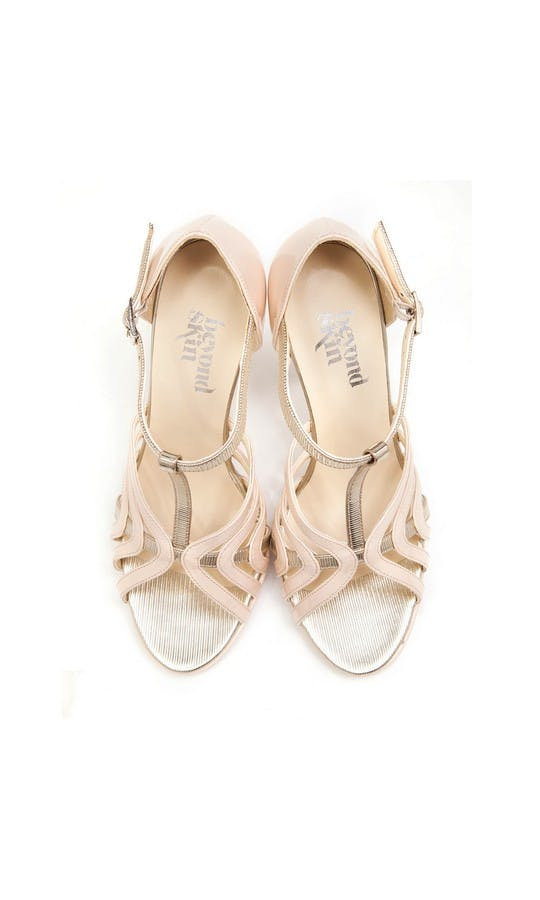 Beyond Skin Bridal Collection Zoe Cream High Sandals #2