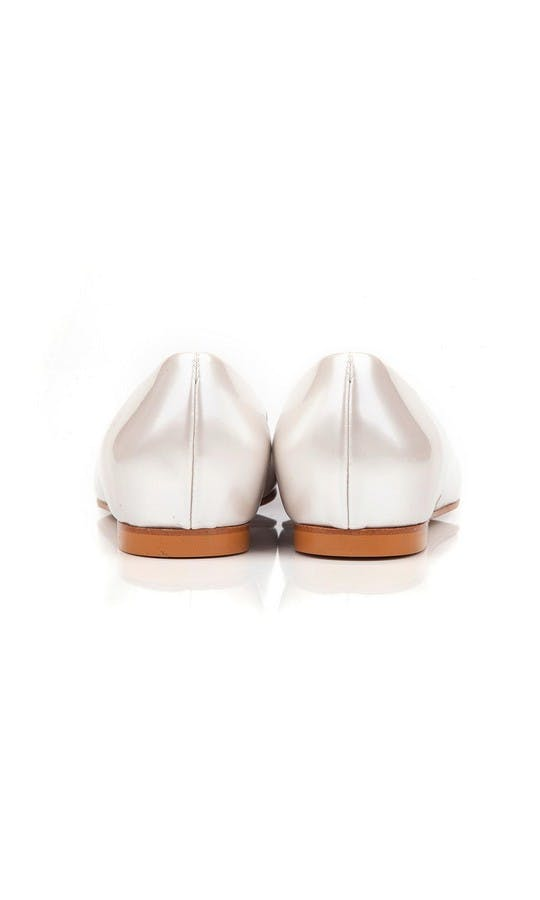 Beyond Skin Bridal Collection Shelley Pearl White Flat Shoe #3