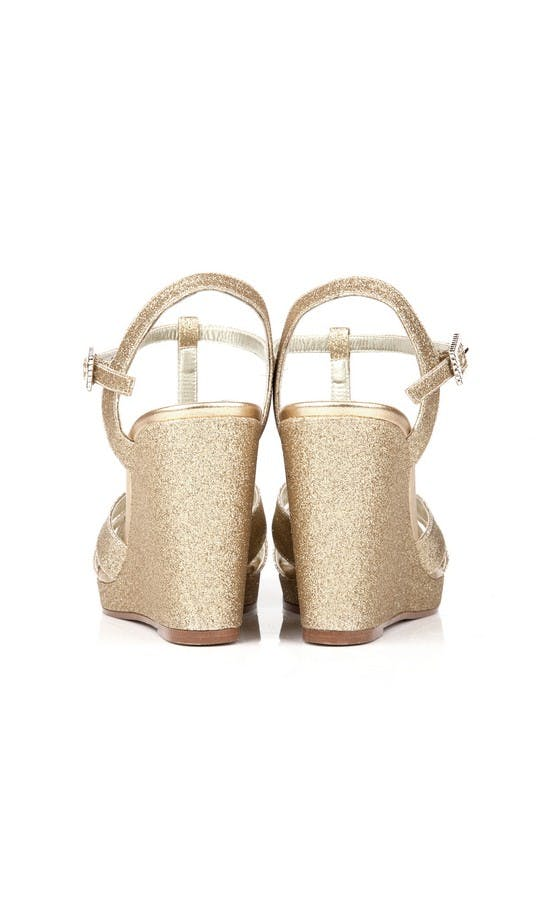 Beyond Skin Bridal Collection Champagne Glitter Angelica Wedges #3