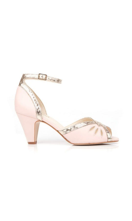 Beyond Skin Bridal Collection Pink Leah Sandals #1