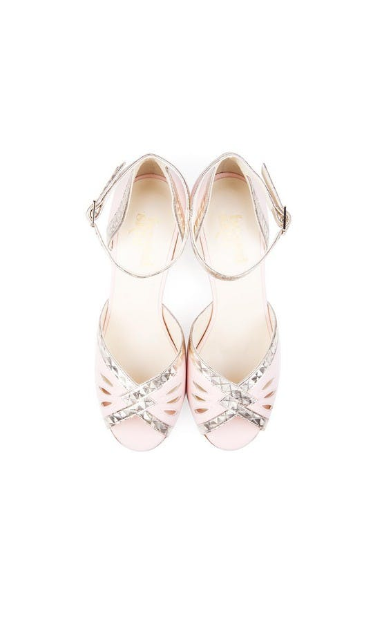 Beyond Skin Bridal Collection Pink Leah Sandals #2