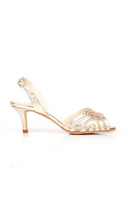 Beyond Skin Bridal Collection Geo Gold Luella S Sandals #1
