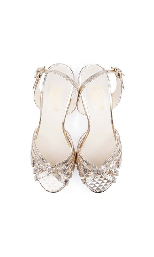 Beyond Skin Bridal Collection Geo Gold Luella S Sandals #2