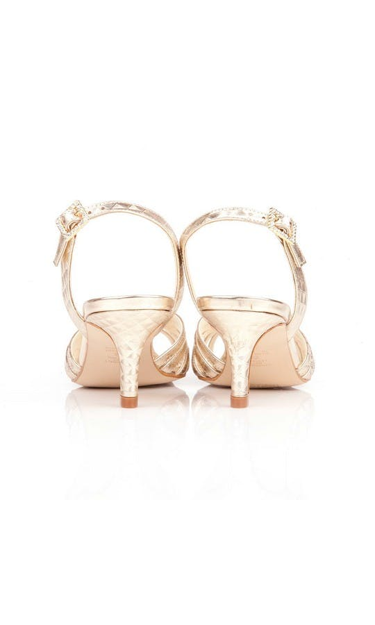 Beyond Skin Bridal Collection Geo Gold Luella S Sandals #3