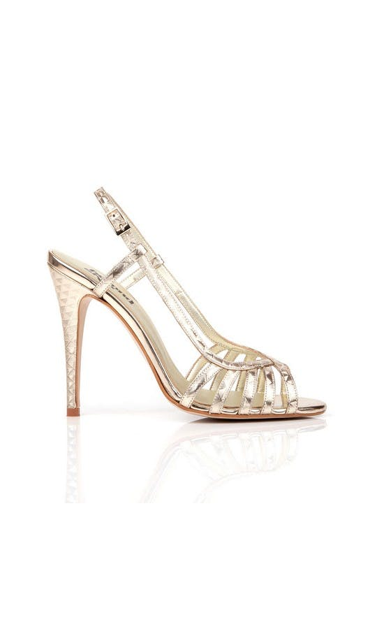 Beyond Skin Bridal Collection Geogold Luna Sandals #1